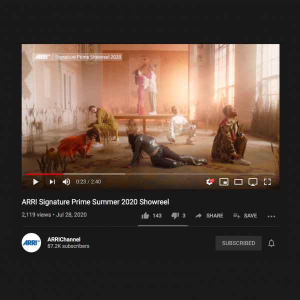 Music video Mama Koshka in sumer 2020 Arri Signature Prime showcase