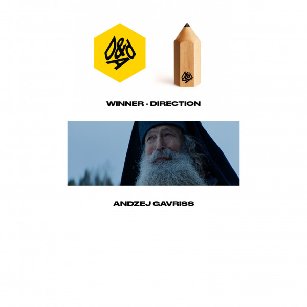 Andzej Gavriss wins wood pencil at D&AD for You're born music video